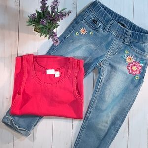 Girl's cropped Jordache jegging jeans